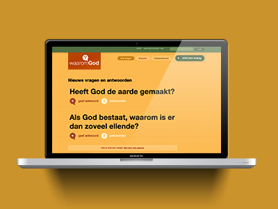 Site waarom-god. Made by Around Seven