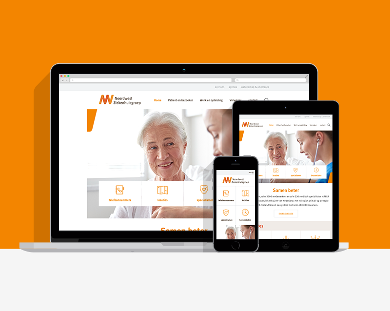 Ontwerp Noordwest Ziekenhuisgroep. Door Around Seven in opdracht van Headline Interactive.
