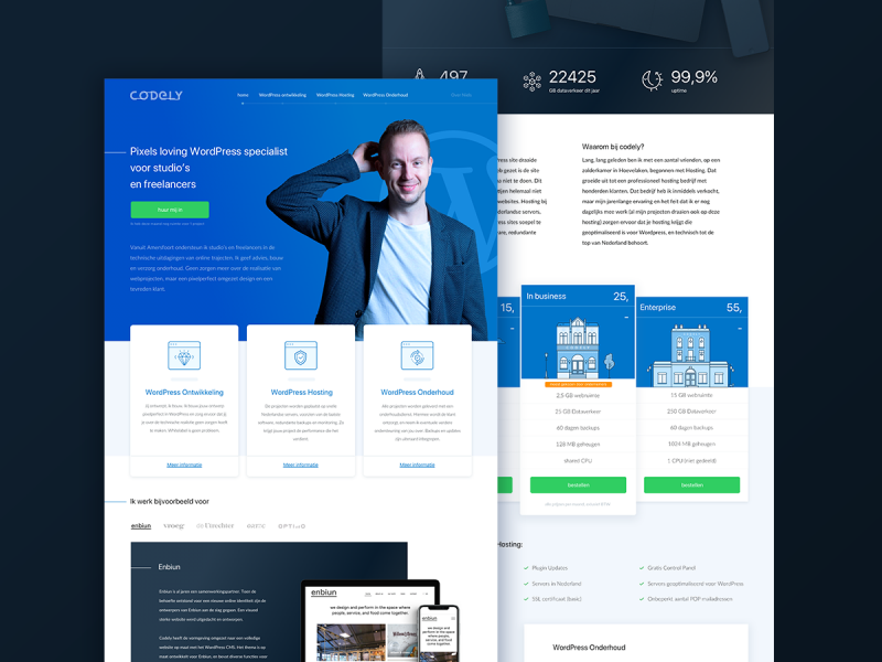Website ontwerp Codely