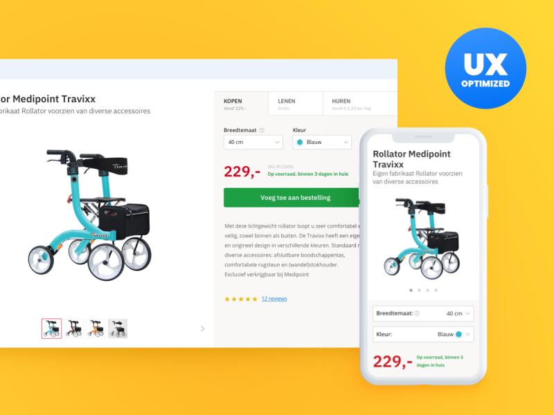 UX optimalisaties Medipoint Webshop