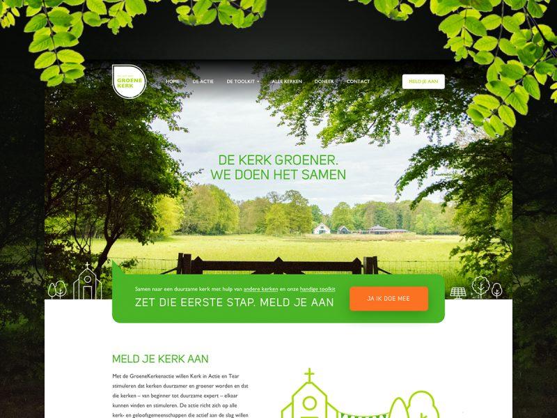 Website ontwerp Groene kerken