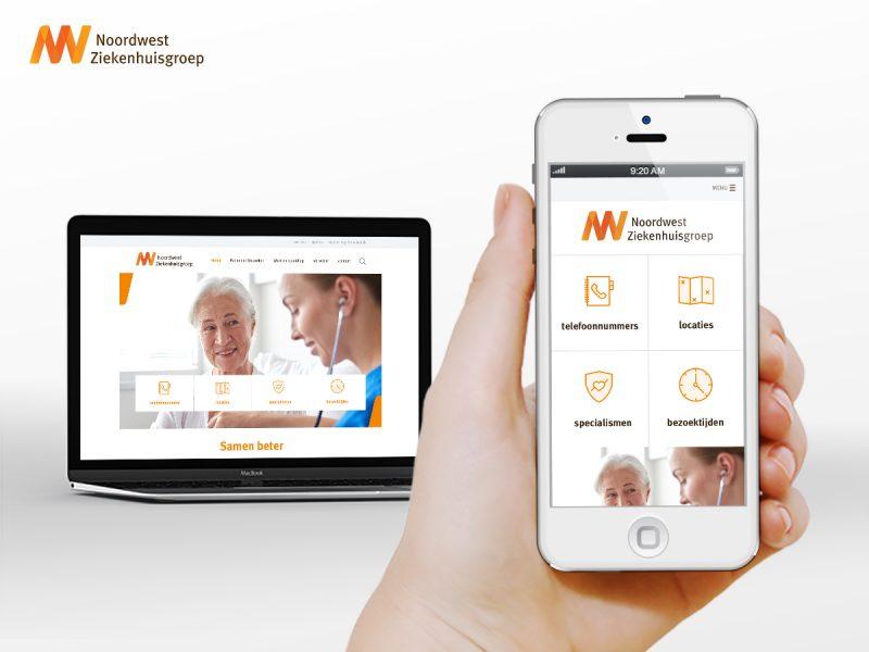 Website Ontwerp Noordwest Ziekenhuisgroep (NWZ)
