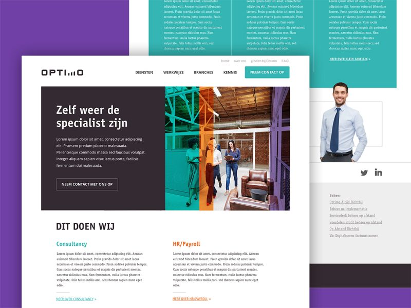 Website ontwerp Optimo