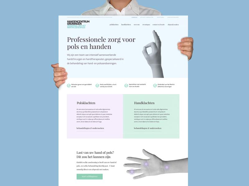 Ontwerp website Handencentrum Groningen