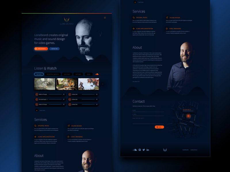 Ontwerp Lonebeard Website